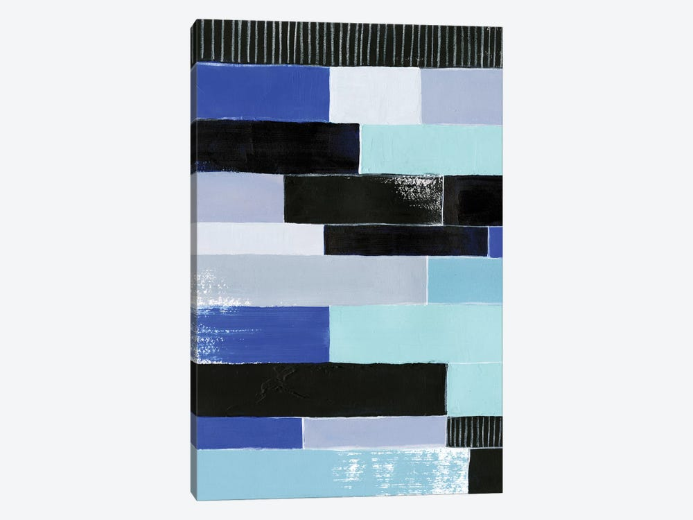 Black & Blue Bricks I 1-piece Art Print