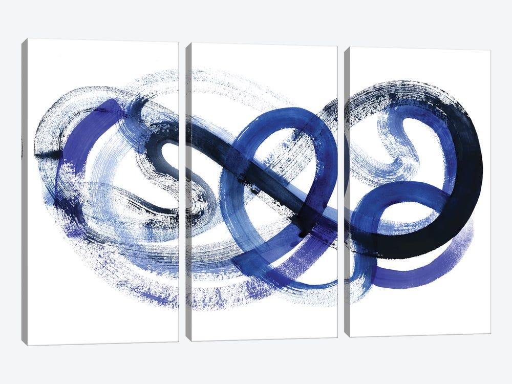 Blue Kinesis II by Grace Popp 3-piece Canvas Wall Art