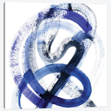 Blue Kinesis III Canvas Print #POP468} by Grace Popp Canvas Artwork