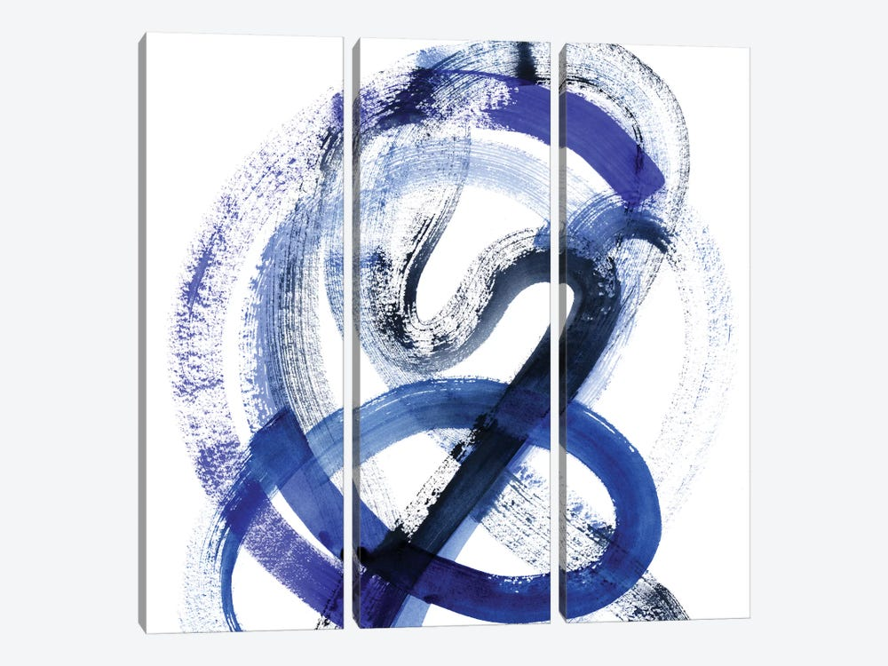 Blue Kinesis III by Grace Popp 3-piece Canvas Print