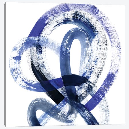 Blue Kinesis IV Canvas Print #POP469} by Grace Popp Canvas Art