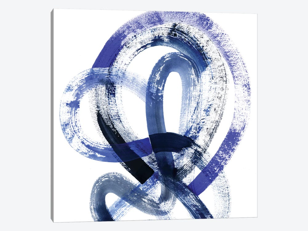 Blue Kinesis IV by Grace Popp 1-piece Canvas Wall Art