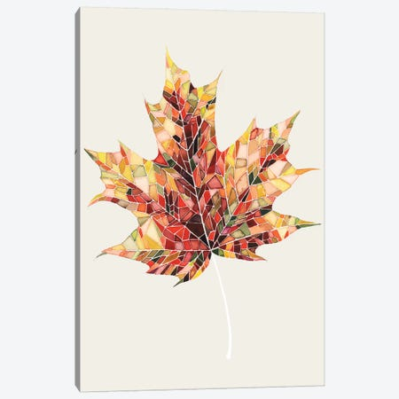 Fall Mosaic Leaf III Canvas Print #POP46} by Grace Popp Canvas Artwork