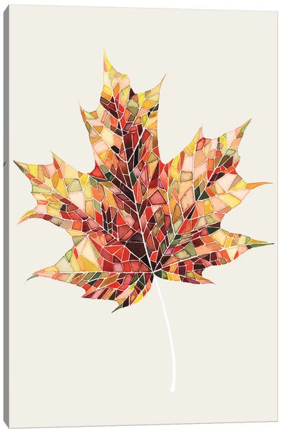 Fall Mosaic Leaf III Canvas Art Print
