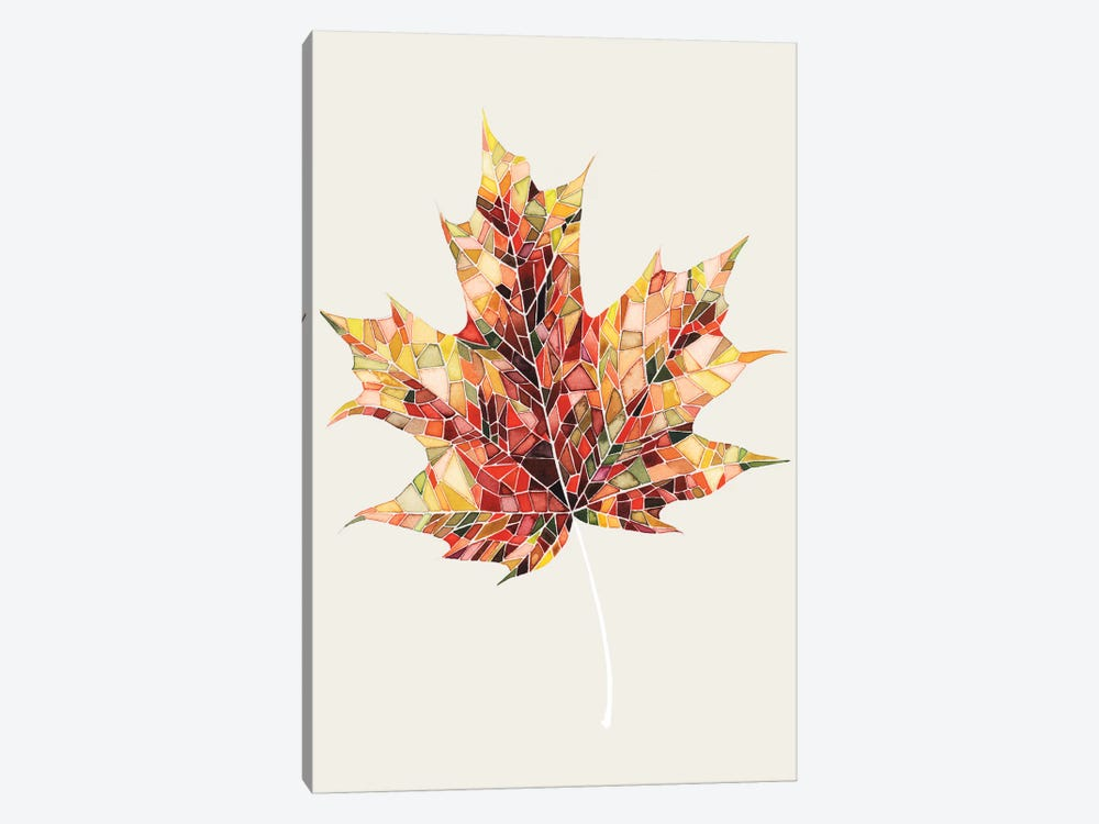 Fall Mosaic Leaf III by Grace Popp 1-piece Canvas Art
