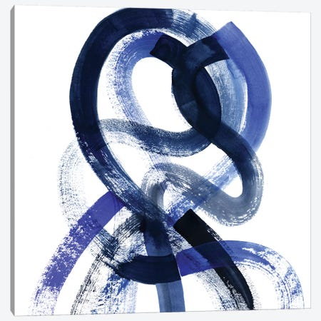 Blue Kinesis V Canvas Print #POP470} by Grace Popp Art Print