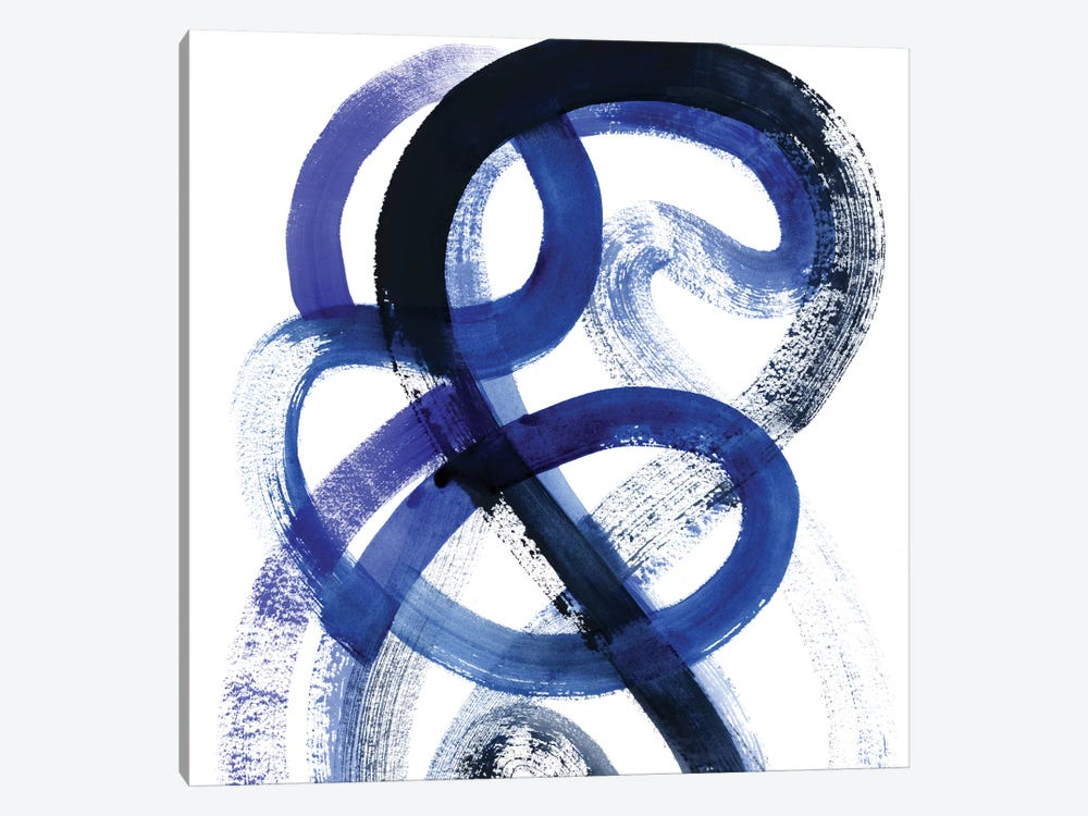 Blue Kinesis VI by Grace Popp 1-piece Canvas Art Print
