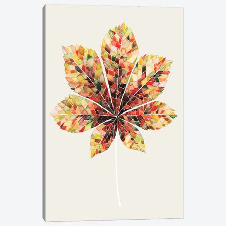 Fall Mosaic Leaf IV Canvas Print #POP47} by Grace Popp Canvas Wall Art