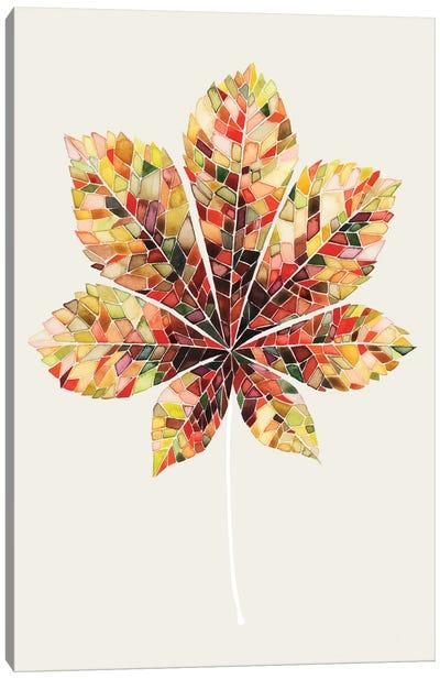 Fall Mosaic Leaf IV Canvas Art Print