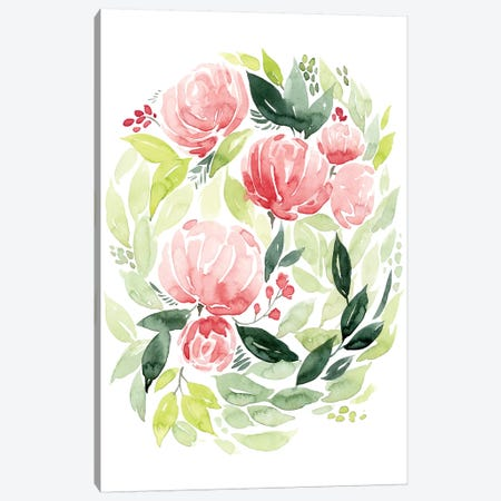 Buoyant Bouquet I Canvas Print #POP480} by Grace Popp Canvas Artwork