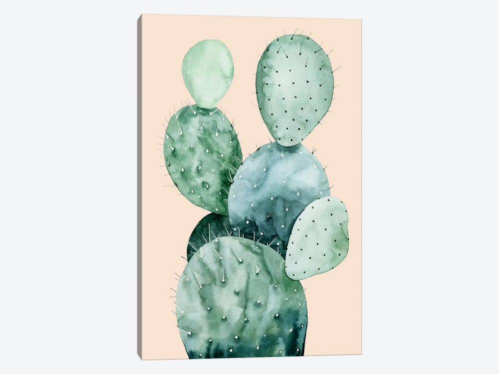 Cactus on Coral II by Grace Popp 1-piece Canvas Wall Art