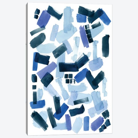 Cerulean Strokes I Canvas Print #POP484} by Grace Popp Canvas Art Print