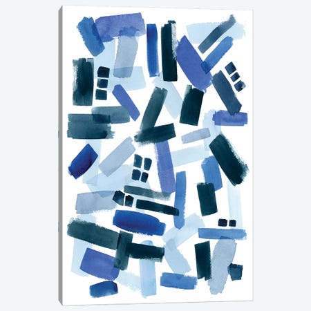 Cerulean Strokes II Canvas Print #POP485} by Grace Popp Canvas Print