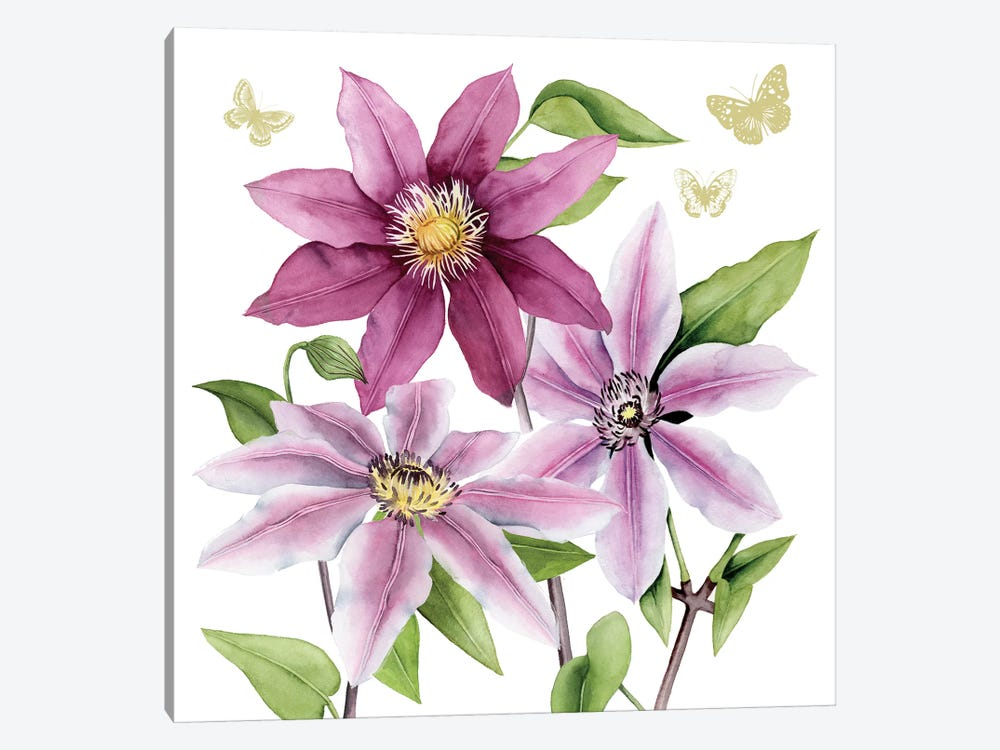 Clematis Climb I by Grace Popp 1-piece Art Print