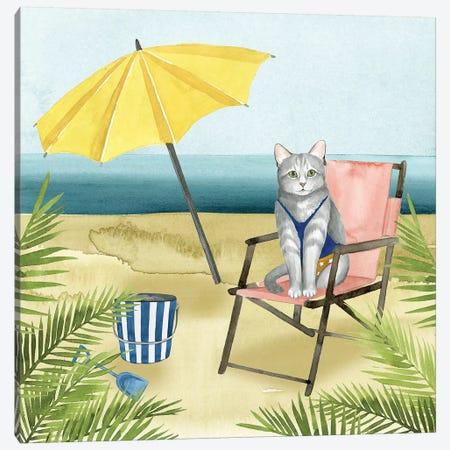 Coastal Kitties II Canvas Print #POP489} by Grace Popp Canvas Wall Art