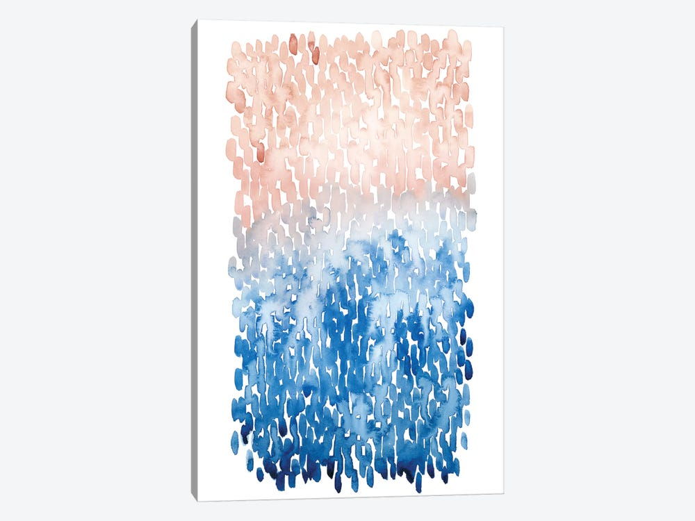 Coral Cascade I by Grace Popp 1-piece Canvas Print