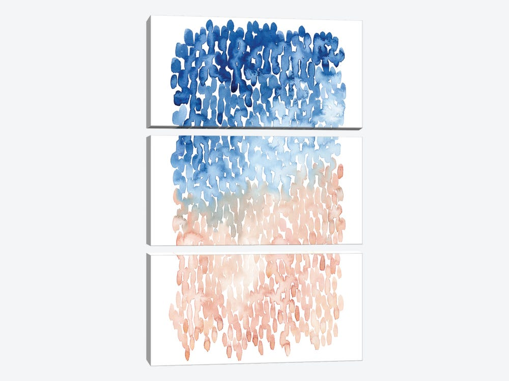 Coral Cascade II by Grace Popp 3-piece Canvas Artwork