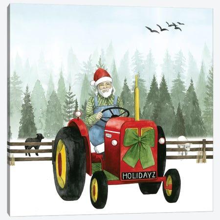 Country Santa I Canvas Print #POP495} by Grace Popp Canvas Artwork
