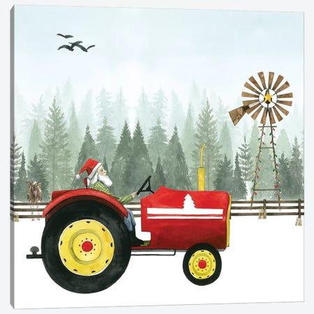 Country Santa II Canvas Print #POP496} by Grace Popp Canvas Art