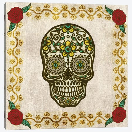 Day of The Dead II Canvas Print #POP502} by Grace Popp Canvas Print