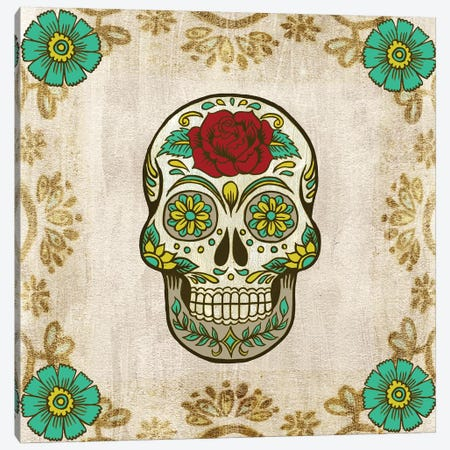 Day of The Dead III Canvas Print #POP503} by Grace Popp Art Print