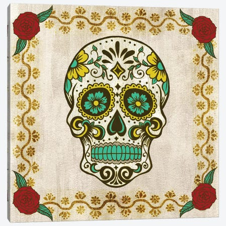 Day of The Dead IV Canvas Print #POP504} by Grace Popp Canvas Artwork