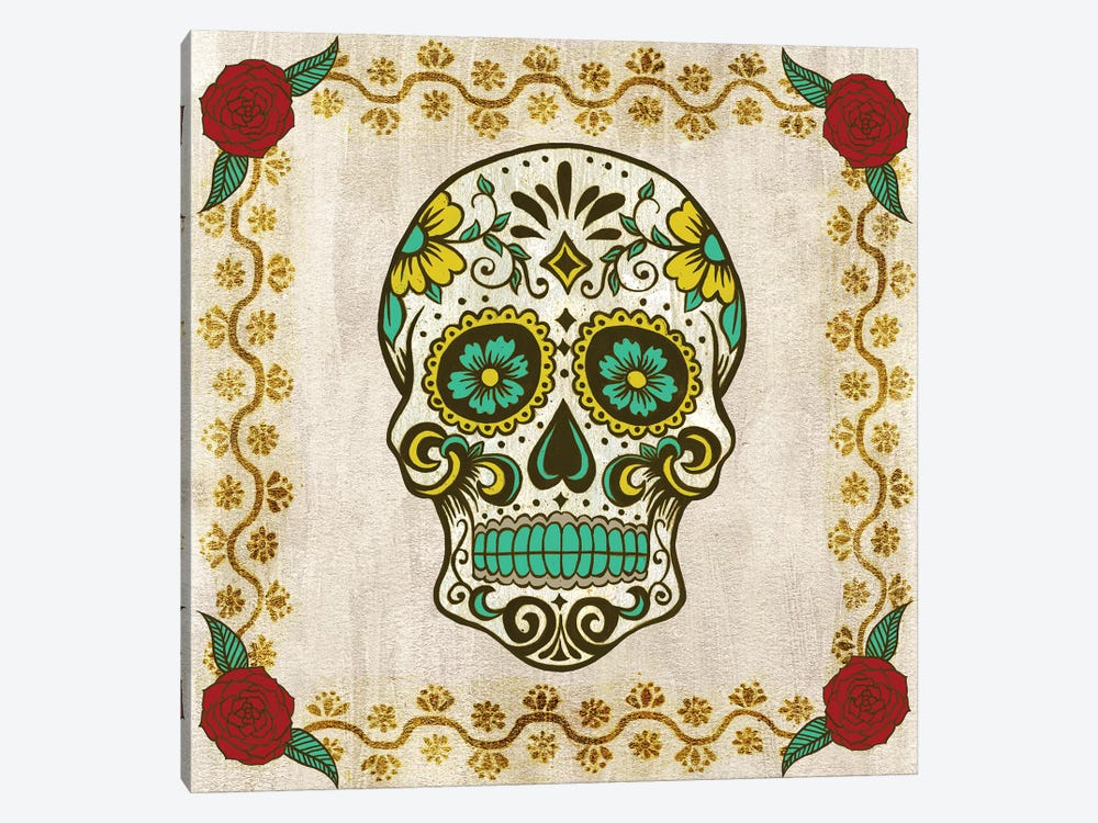 Day of The Dead IV by Grace Popp 1-piece Canvas Wall Art