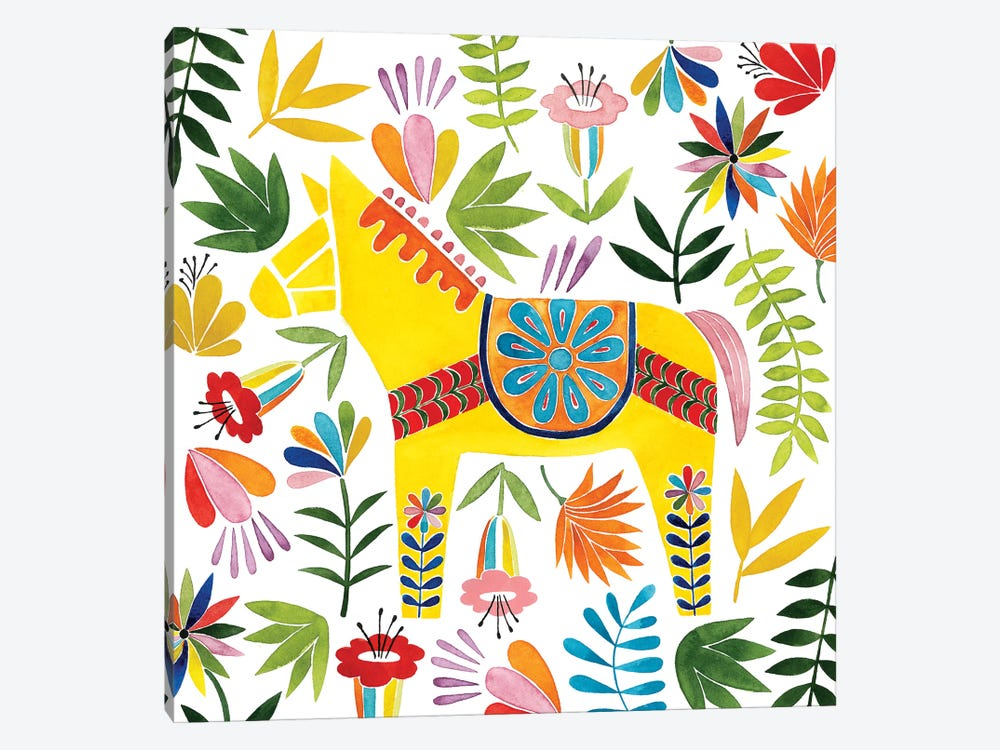 Festive Otomi III by Grace Popp 1-piece Canvas Wall Art