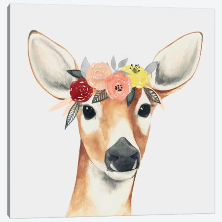 Flower Crown Forester I Canvas Print #POP512} by Grace Popp Canvas Artwork