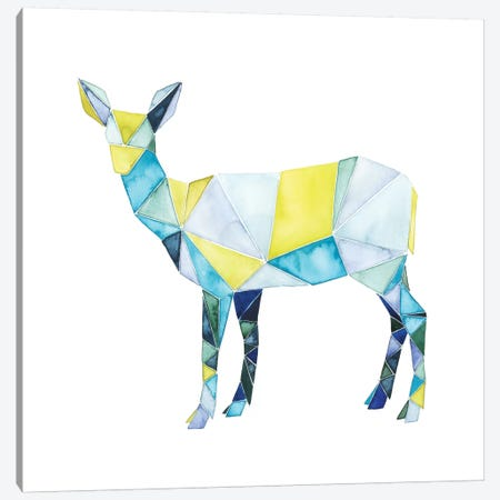 Geo Animal II Canvas Print #POP51} by Grace Popp Canvas Wall Art