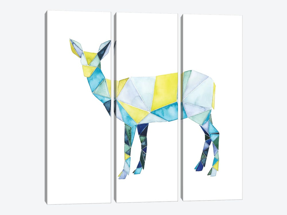 Geo Animal II by Grace Popp 3-piece Canvas Art