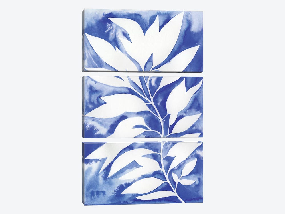 Ink Blot Vine I by Grace Popp 3-piece Canvas Wall Art