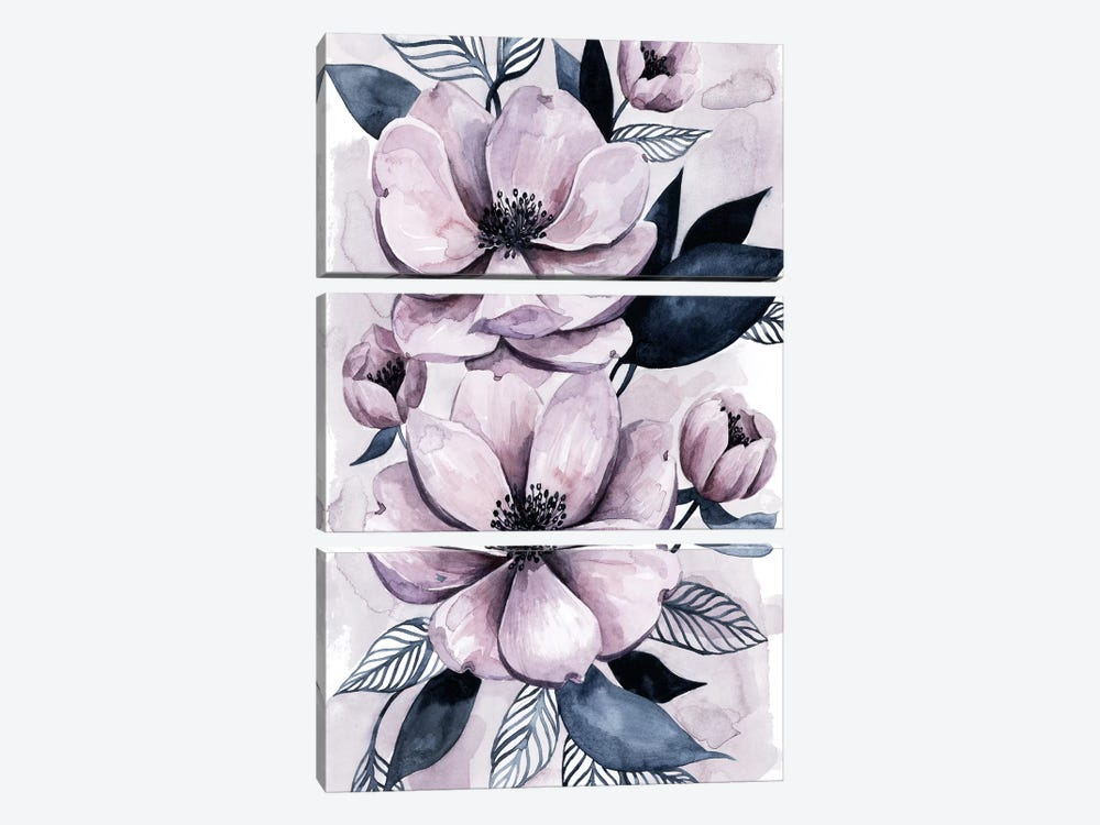 Lavender Burst I by Grace Popp 3-piece Canvas Art