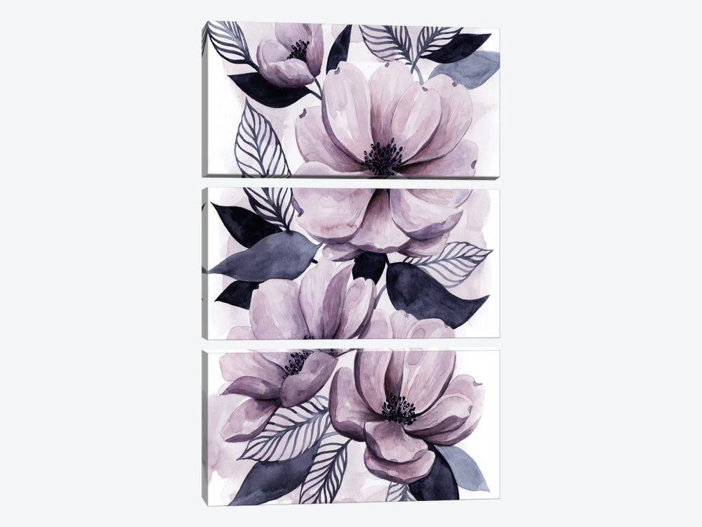 Lavender Burst II by Grace Popp 3-piece Canvas Print