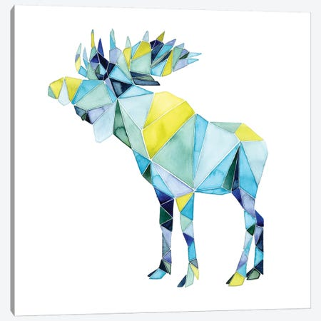 Geo Animal III Canvas Print #POP52} by Grace Popp Canvas Wall Art