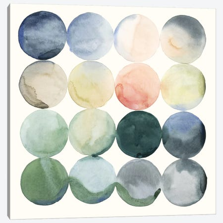 Pastel Hoops I Canvas Print #POP536} by Grace Popp Art Print