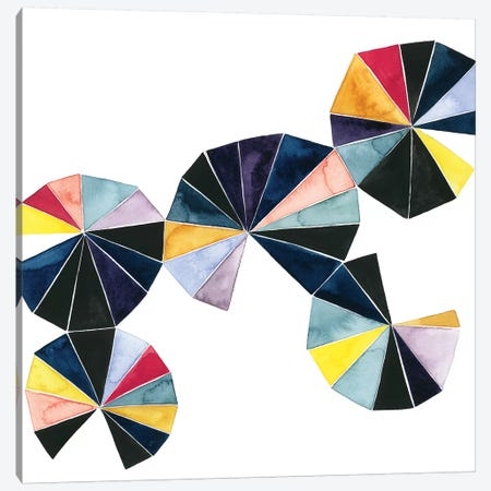 Pinwheel Bright I Canvas Print #POP540} by Grace Popp Art Print
