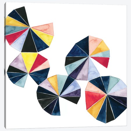 Pinwheel Bright II Canvas Print #POP541} by Grace Popp Canvas Print