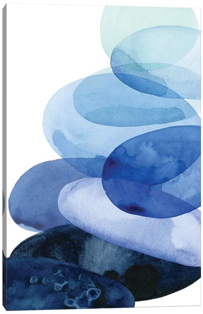 River Worn Pebbles I Canvas Art Print