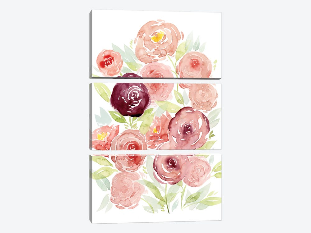 Rosen Garden II 3-piece Canvas Art Print
