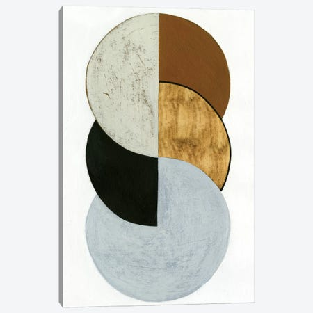 Stacked Coins I 3-Piece Canvas #POP574} by Grace Popp Art Print