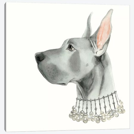 Haute Hounds I Canvas Print #POP58} by Grace Popp Canvas Artwork
