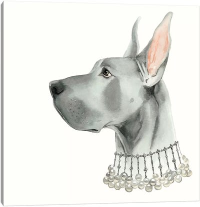 Haute Hounds I Canvas Art Print