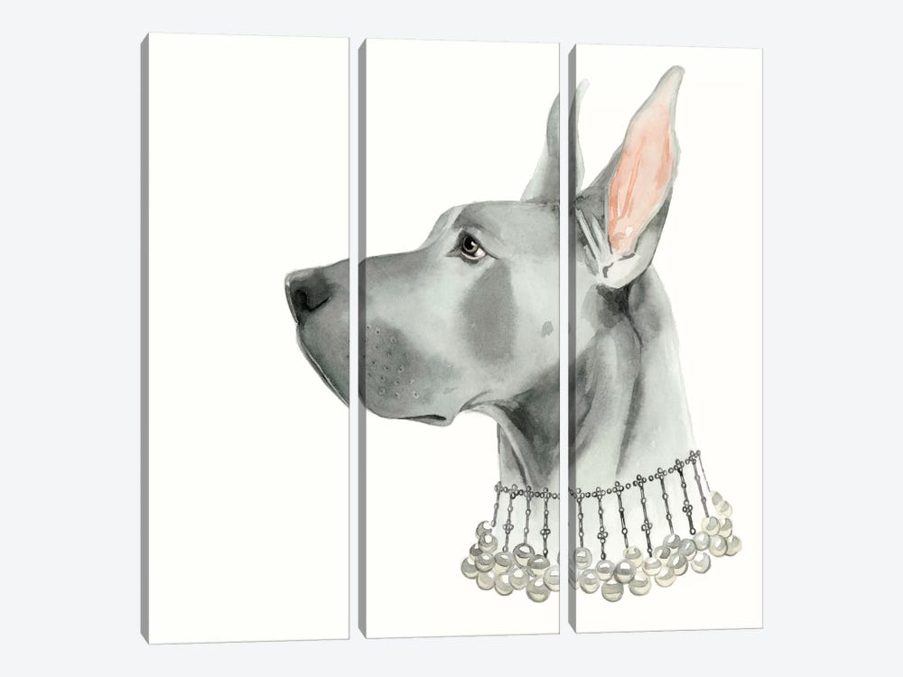Haute Hounds I by Grace Popp 3-piece Canvas Art Print
