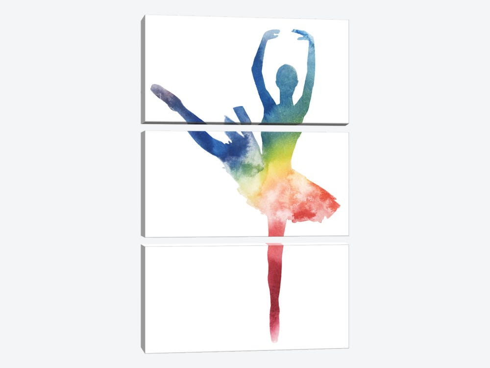 Ballerina Beam III by Grace Popp 3-piece Canvas Artwork