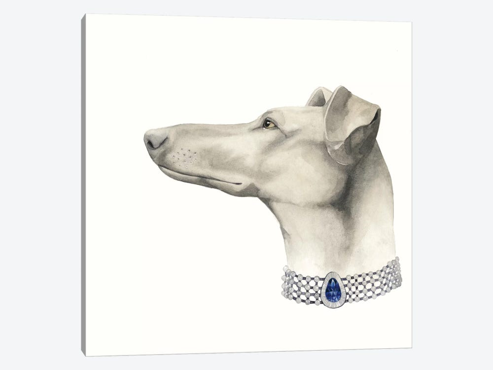Haute Hounds III 1-piece Canvas Wall Art