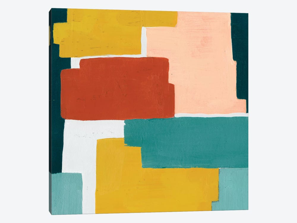 Block Abstract I by Grace Popp 1-piece Canvas Print