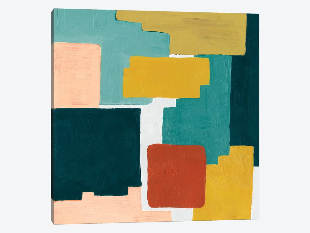 Block Abstract II by Grace Popp 1-piece Canvas Wall Art