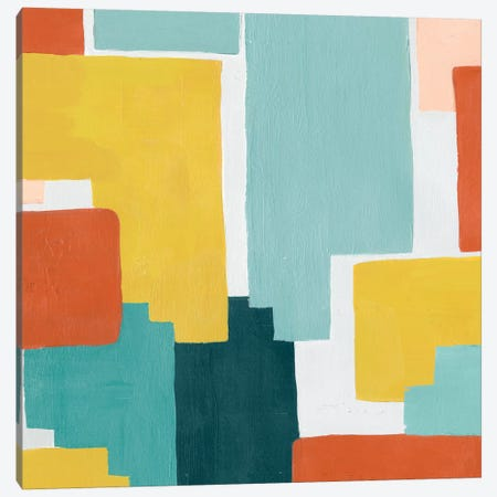 Block Abstract III Canvas Print #POP616} by Grace Popp Canvas Wall Art