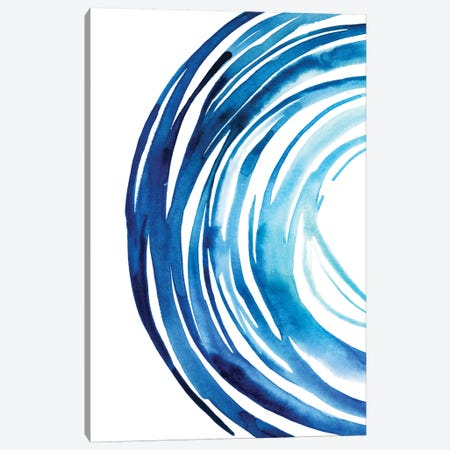 Blue Vortex I Canvas Print #POP618} by Grace Popp Art Print